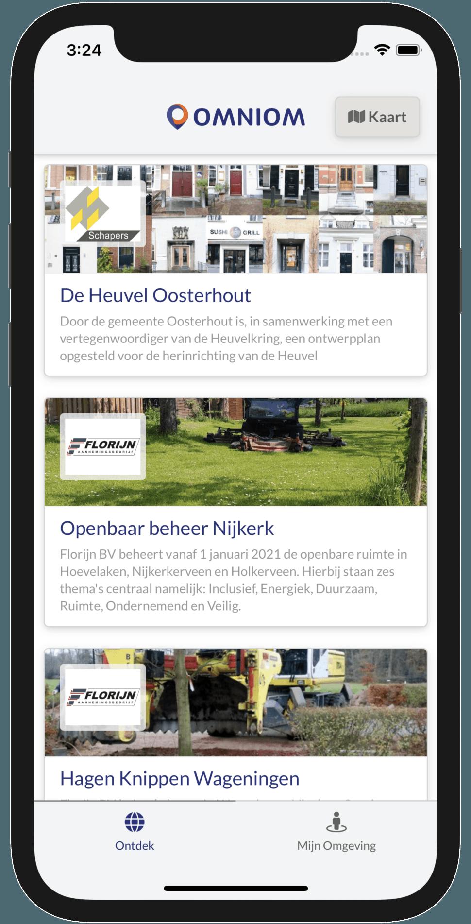 Projecten in de Omniom App